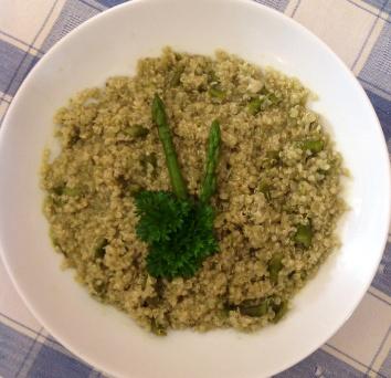 Matcha tea Asparagus Quinoa