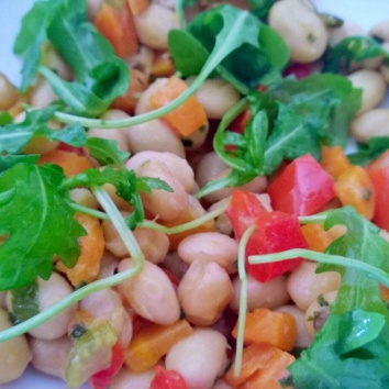 Colored beans salad