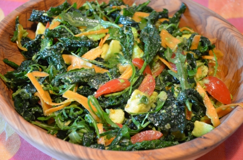 Kale Avocado Yummy Salad